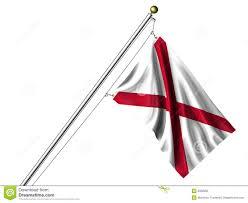 Flag Of Alabama Isolated Alabama Flag Stock Illustration Illustration Of