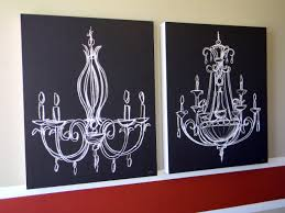 chalk drawn chandelier love this and it would be pretty easy to