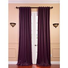 Overstock Blackout Curtains Exclusive Fabrics Blackout Thermal Aubergine Curtain Panel Pair By