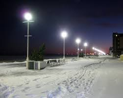 snow boardwalk 8x10 photo ocean city maryland winter