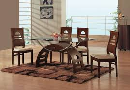 Modern Glass Kitchen Tables by Impressive Glass Dining Room Tables Rectangular Glass Kitchen