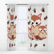 Winter Window Curtains Family Of Foxes In Winter Window Curtains By Vanessagf Society6
