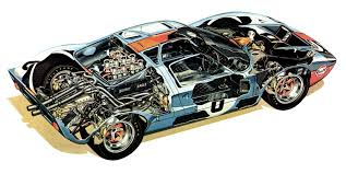 9 amazing ford gt40 cutaways motorsport retro cutaway cars