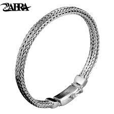 silver weave bracelet images Zabra real 925 sterling silver bracelet men vintage punk fashion jpg