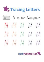 letter n worksheets guruparents