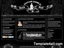 website templates rock music css template css music rock