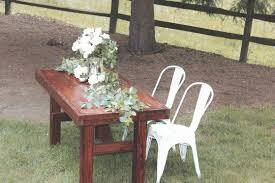 Distressed White Table Farmhouse Table Rentals For Weddings Showers Or Any Special Occasion