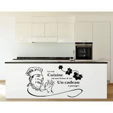 autocollant cuisine stickers autocollant la vraie cuisine est une forme d rèf