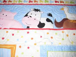 Farm Animal Nursery Decor Farm Animal Baby Quilt My Freehand Quilt