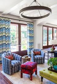 ottoman with patterned fabric chevron pattern ideas for living rooms rugs drapes and accent pillows