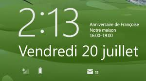 horloge bureau windows 7 l écran de verrouillage dans windows 8