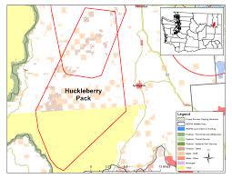 Eastern Washington Map by Washington Wolf Packs Huckleberry Washington Department Of Fish