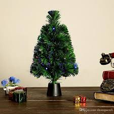 cheap christmas trees with lights 45cm holiday optical fiber artificial mini christmas tree colorful