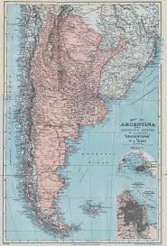 Map Of Nd Large Detailed Old Map Of Argentina 1900 Argentina South