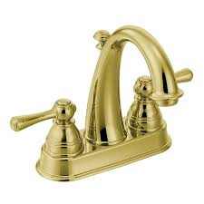Brass Faucets Bathroom by Moen 6121orb Kingsley Two Handle High Arc Bathroom Faucet Oil