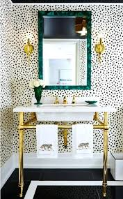 wallpaper bathroom ideas bathroom wallpaper appealing ideas creative decoration with mirror