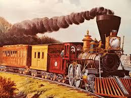 Collectible Home Decor Vintage Train Lithograph Copy Industrial Locomotive U2026 Flickr