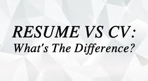 whats a cv resume vs cv what s the difference