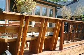 benches with backs deck traditional with basket bench built in