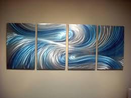 3 dimensional wood wall wall arts echo 3 blues abstract metal wall contemporary