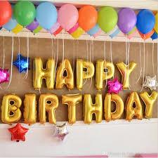 birthday decorations 16 inch alphabet balloon set birthday party happy birthday