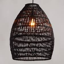 wicker hanging light fixture lightings and lamps ideas