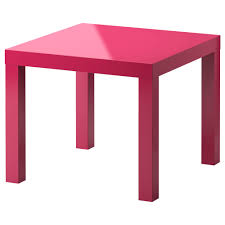 lack side table high gloss pink 21 5 8x21 5 8