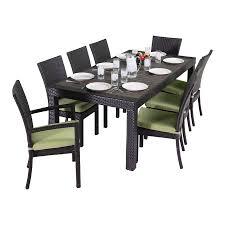 Composite Patio Furniture Shop Rst Brands Deco 9 Piece Composite Material Patio Dining Set