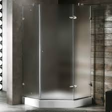 42 x 42 frameless neo angle shower enclosure left decor island