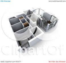 floor plan clipart clipart illustration of a 3d floor plan of a flat building with