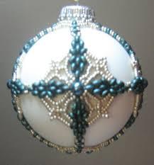 original design by mary ballou beaded ornaments pinterest