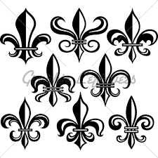 set of tribal fleur de lis tattoo designs in 2017 real photo
