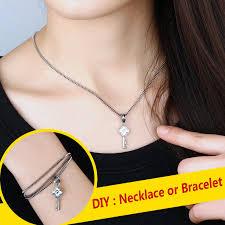 lock key pendant necklace images Ouyan couples bracelets lock and key bracelet and necklace set jpg