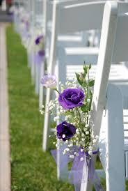 Outdoor Wedding Chair Decorations Best 25 Purple Outdoor Weddings Ideas On Pinterest Small