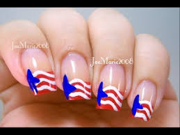 red white u0026 blue stars 4th of july nail design youtube