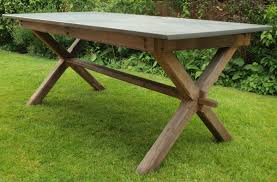Customers Gallery Of Slate Top Tables - Garden table design