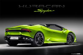 Lamborghini Huracan Back - the lamborghini huracan lp610 4 spyder is unveiled