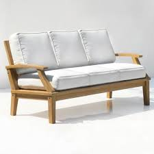 st barts deep seating teak outdoor sofa with cushions outdoor
