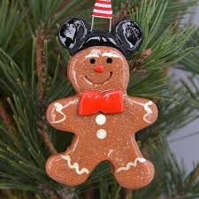 gingerbread with mickey minnie ears ornament tis the season