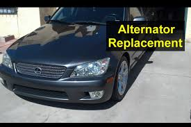how to replace your alternator replacement lexus is 300 auto