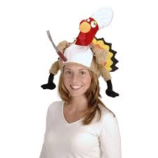 turkey hat plush chef turkey hat party accessory 1 count 1 pkg