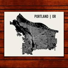 Map Portland Or by Portland Map Art Print Mr City Printing Touch Of Modern