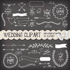 Chalkboard Wedding Invitations Typography Clipart Wedding Invitation Pencil And In Color
