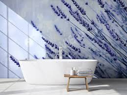 murals bathroom to size of wall myloview com a source of calm and peace lavender wallpaper