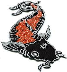 japanese koi carp fish tattoo japan love applique iron on patch