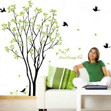green beautiful tree and bird room decor art decals vinyl art