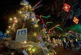 celebration in the oaks casts a holiday glow over city park with