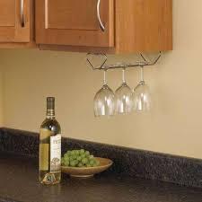 Wine Glass Storage Cabinet by Stemware Storage Kitchen Cabinet Organizers The Home Depot