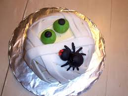 Spider Halloween Cake by Halloween Mummy Cake Cakecentral Com