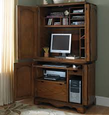 Computer Desk Armoire Furniture Outstanding Corner Computer Desk With Hutch Design